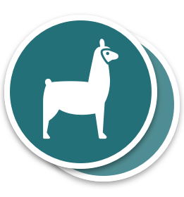 Label-Llama-Circle-Stickers
